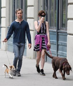 Anne Hathaway  Out and about with her husband in New York City 07-12-2014